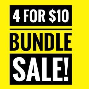 4 FOR $10 BUNDLE SALE SALE